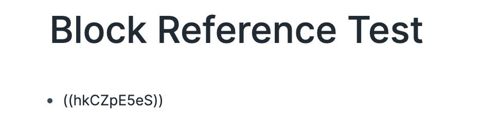 Block Reference Block ID