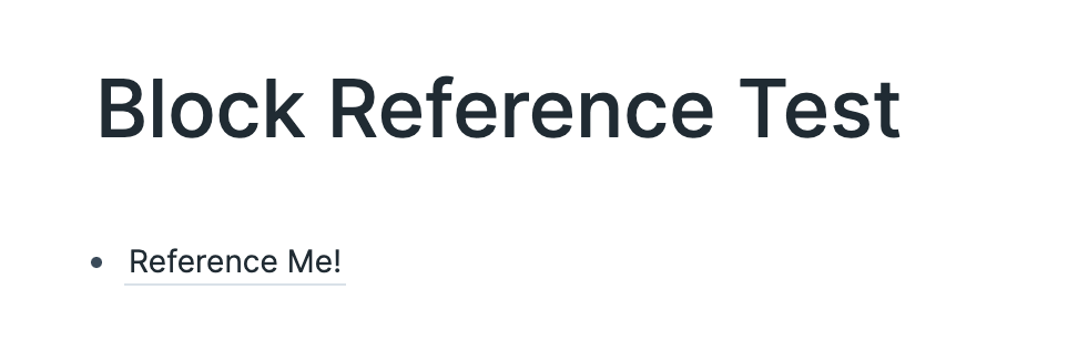 Block Reference Text